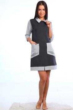 офисное платье из футера