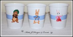 Peter Rabbit Personalised Birthday Party Decorations Supplies Packs Shop Online Australia Banners Bunting Wall Display Cupcake Toppers Chocolate Wrappers Juice Water Pop Top Labels Posters Lanterns Invites Cup Stickers Ideas Inspiration Cake Table Katie J Design and Events Baby Shower Boy Boys