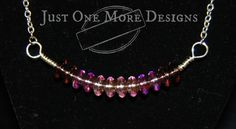 Ombre Pink & Purple Glass Bead Necklace