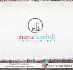 Custom Premade Photography Logo - Circle and Initials Logo and Watermark Design Name Text Logo. $45.00, via Etsy.