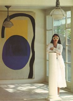 painting blue+yellow+black - designer emmanuelle khanh standing at the pillar, Painting Inspiration, Design Inspiration, Moodboard Inspiration, Oeuvre D'art, Art Direction, Contemporary Art, Art Photography, Abstract Art, Illustration Art