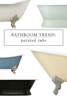 Have you ever dreamed of designing a customized bathtub to fit your space and style? These painted bathtubs from Signature Hardware allow you to do just that, with options for size, style, and color to best fit your bathroom decor.