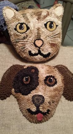 Rug Hooking Patterns, Rug Patterns, Peg Loom, Punch Needle Patterns, Latch Hook Rugs, Rug Inspiration, Hand Hooked Rugs, Cat Pillow, Rugs