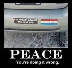 Peace, you're doing it wrong