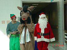 Santa,Elf and Reindeer