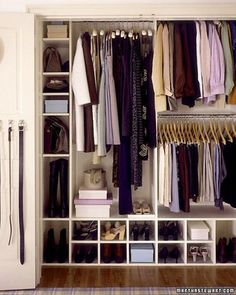 closet organizers | Found on marthastewart.com