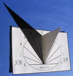 Sundial DIY for Kids - Oval Sundial with PDF