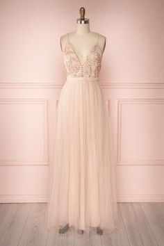 Ruan Blush from Boutique 1861 Pastel Prom Dress, Blush Pink Wedding Dress, Pink Prom Dresses, Tulle Prom Dress, Evening Dresses, Bridesmaid Dresses, Long Blush Dress, Blush Formal Dresses, Long Cocktail Dress