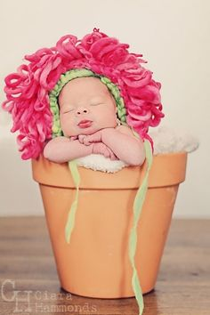 Baby flower photo prop