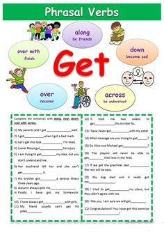 """Phrasal verbs """"Get"""" worksheet - Free ESL printable worksheets made by teachers"""