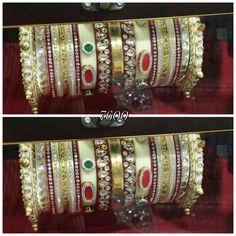 The wedding bridal bangles only on Krishnam 9099021021 Marwari chudla Wedding Chura, Bridal Chura, Bridal Bangles, Bangle Set, Indian Bridal, Wedding Accessories, Boy Or Girl, Jewellery, Fashion