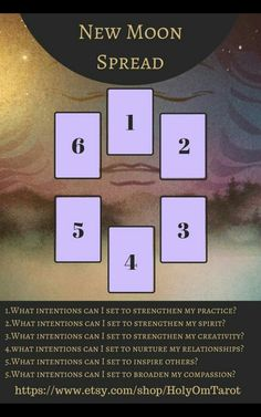New Moon Tarot Card Spread | Oracle Cards | Divination Layout