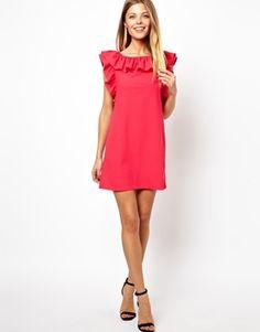 Image 4 - Exclusivité ASOS PETITE - Mini robe dos nu à volants