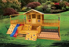 Mansion- The Timbertop Mansion cubby house gives kids the chance to live large and enjoy the 'finer' life with their creative play. Let their imaginations run wild in this mansion. Outside Playground, Kids Backyard Playground, Backyard Playset, Backyard For Kids, Backyard Projects, Playground Set, Kids Outdoor Play, Kids Play Area, Outdoor Fun