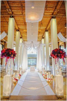 Wedding Ceremony Decor - www. Wedding Pews, Wedding Aisle Decorations, Wedding Events, Our Wedding, Wedding Flowers, Dream Wedding, Wedding Receptions, Weddings, Aisle Style