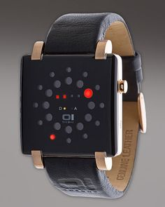 Futuristic Watch. Black on Black with a little sparkle.