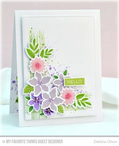 Mini Modern Blooms, Distressed Patterns, Label Maker Sentiments, Blueprints 20 Die-namics, Mini Modern Blooms Die-namics - Debbie Olson  #mftstamps