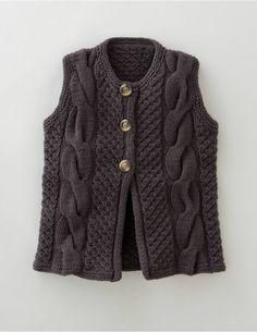 Boden Women's Brand New Hand Knit Gilet - Peat
