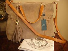 $348 RALPH LAUREN INDIAN COVE SUEDE CONVERTIBLE TOTE BAG PURSE NWT