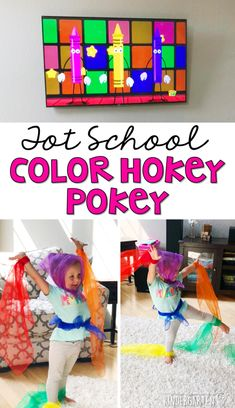 Learning is more fun when it involves movement! Work on color recognition and identifying body parts with this color hokey pokey activity! Great activity for an all about me or my body theme in tot school, preschool, or even kindergarten! Preschool Color Theme, All About Me Preschool Theme, Movement Preschool, Preschool Color Activities, All About Me Activities, Gross Motor Activities, Music Activities, Preschool Classroom, Preschool Activities