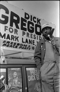 Dick Gregory Pictures and Photos Bennett Cerf, Dick Gregory, Freedom Party, George Burns, Social Activist, Black Presidents, Celebrity Photographers, Agent Of Change, Face Photography