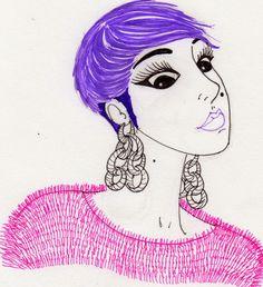femmehq - Music maker in London.  Illustration by Ileana Perez-Monroy