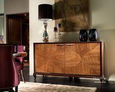 Буфет с корпусом из массива древесины и отделкой из шпона дерева Arte Brotto
