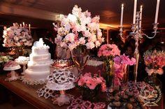 decoraçao romantica 15 anos rosa e azul - Pesquisa Google
