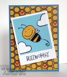 Totally Buzzworthy card using Paper Smooches Stamps