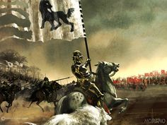 Stark Bannermen charging into a Lannister Army