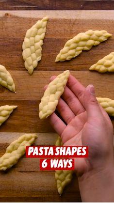 Pasta Casera, Pasta Shapes, Tasty, Yummy Food, Cooking Recipes, Healthy Recipes, Fresh Pasta, Homemade Pasta, C'est Bon