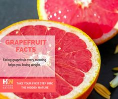 Grapefruit has surprising health benefits. The fruit grows in clusters similar to grapes, hence the name. It was first discovered in South America. It is a natural hybrid between orange and pomelo which accounts for its large size and tangy flavor. Why Grapefruit? For one thing, grapefruit is filled to the brim with vitamin C. Continue your path into the hidden nature with Hidden Nature Organic Turmeric Curcumin on SALE  on Amazon ➡️ https://goo.gl/1kMhUD