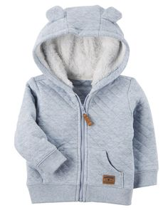 Sherpa-Lined Quilted Jacket | Carters.com