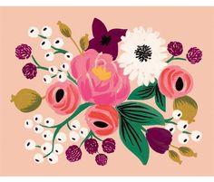 Vintage Blossoms Peach Print by Rifle Paper Co. Art And Illustration, Floral Illustrations, Art Floral, Floral Prints, Guache, Painting Inspiration, Color Inspiration, Flower Patterns, Vintage Posters