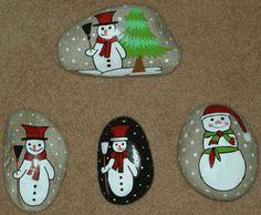 Galet de noël peints, Déco Noël à fabriquer - Loisirs créatifs