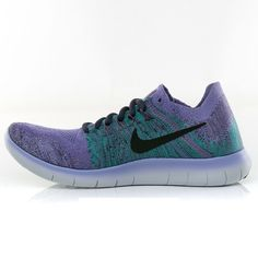 Nike WMNS Free RN Flyknit 2017 Purple Size 8.5 US Womens Athletic Running Shoes #Nike #RunningShoes Nike Shoes, Sneakers Nike, Nike Free, Running Shoes, Athletic, Brand New, Purple, Black Women, Ebay