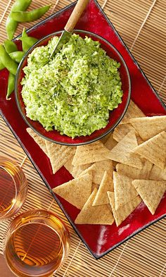 This Edamame Dip is an easy layup for your fans!