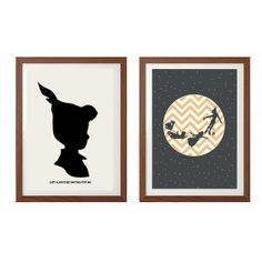 Peter Pan Poster : Disney Modern Illustration Retro Art Wall Decor Print A4 8 x 11 on Etsy, $25.01