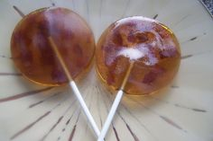 Maple bacon lollipop favor. @J.j. Shields Really, I think it sounds gross, but it made me think of PW!