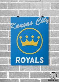 Kansas City Royals Vintage Style Baseball Poster by DimestoreSaintDesign