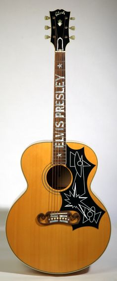 Elvis Presley's 1956 Gibson J-200 acoustic guitar ----Now owned by Rick Nielsen