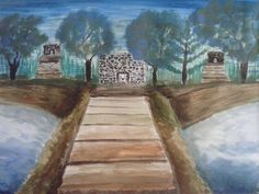 """""""The Three Temples"""" Painted By Fadi Abu-Deeb"""