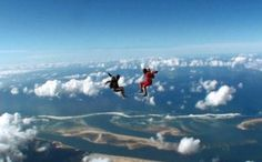 Sky diving Lacanau Ocean, Skydiving, West Coast, Athlete, Photography, Tandem Jump