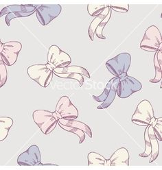 Seamless pattern with sketched bows in pastel vector by zhemchuzhina on VectorStock®