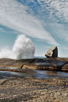 The Bicheno blowhole, Tasmania. Nature Photography Tips, Creative Portrait Photography, Quotes About Photography, Ocean Photography, Winter Photography, Abstract Photography, Landscape Photography, Travel Photography, Tasmania Road Trip