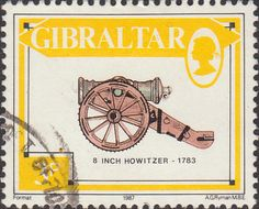 Gibraltar 1987 Guns SG S74 Fine Mint Scott 513 Other Gibraltar Stamps HERE