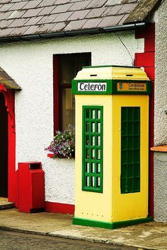 Old phone booths in Ireland
