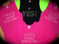 5 Bachelorette Party Tank Tops. That is what by uniqueandtrendy