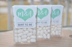 Mint To Be Tic Tac Labels Bridal Shower Favors by sosweetpartyshop