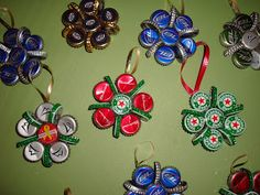 Valerie A. Heck: Beer Bottle Cap Ornaments making these this year
